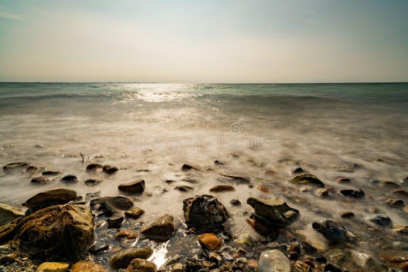 Долгая выдержка на море стоковая фотография rf