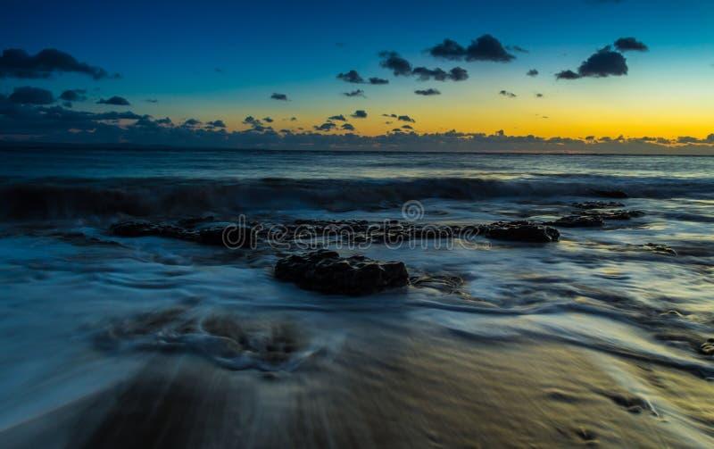 Долгая выдержка на пляже стоковые фотографии rf