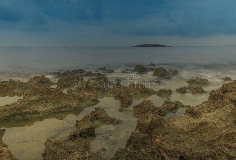 Долгая выдержка на пляже стоковое фото