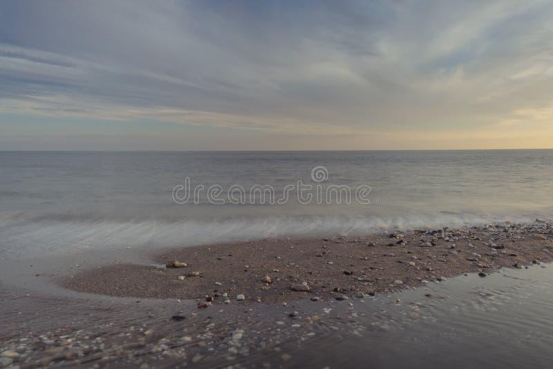 Долгая выдержка на пляже стоковая фотография