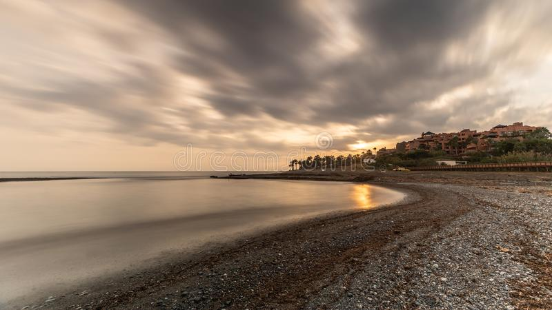 Долгая выдержка пляжа стоковое фото