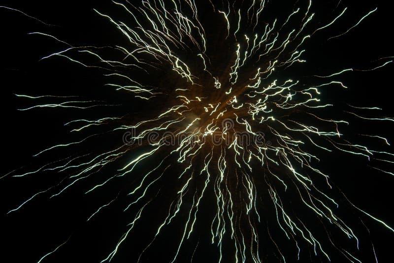 Долгая выдержка шутих огня на фестивале Diwali стоковая фотография rf