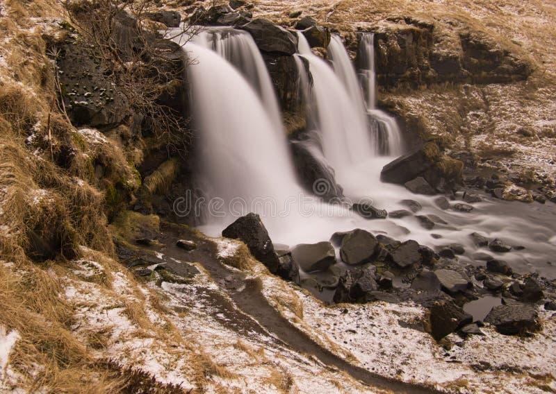 Долгосрочная выдержка водопада в Исландии стоковая фотография