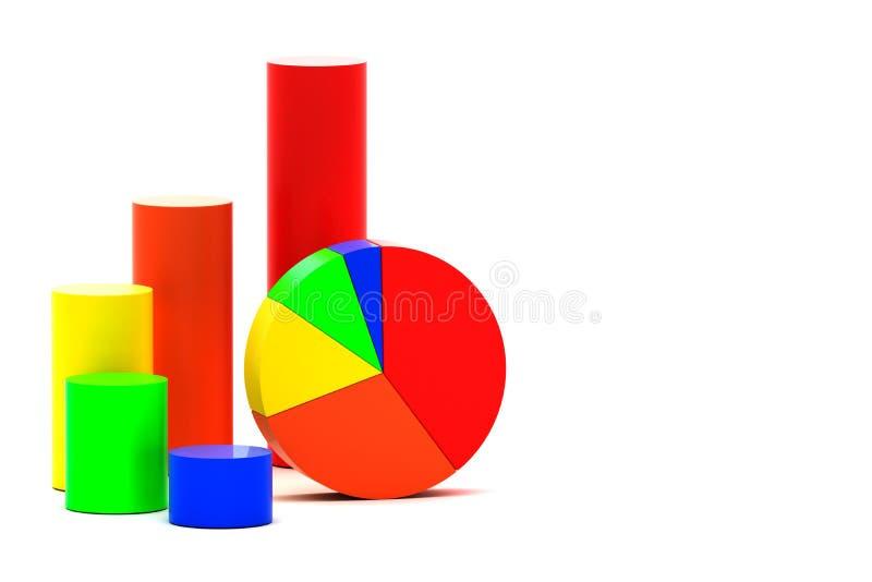 Долевая диограмма и диаграмма в виде вертикальных полос бесплатная иллюстрация