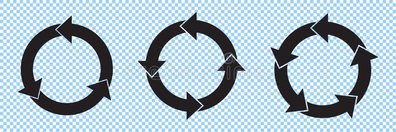 Долевые диограммы шаблона стрелок круга infographic бесплатная иллюстрация