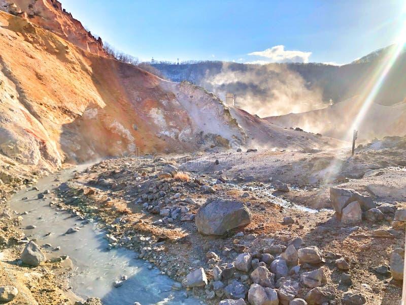 Долина ада в Японии стоковые изображения rf
