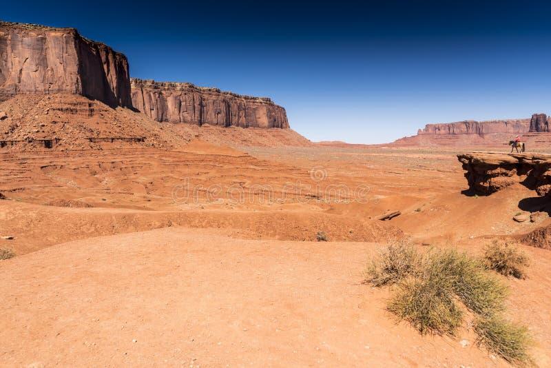 Долина Аризона памятника мезы пункта, Митчел и часового John Ford стоковые изображения