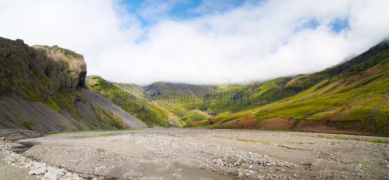 Долина в Исландии стоковое изображение rf