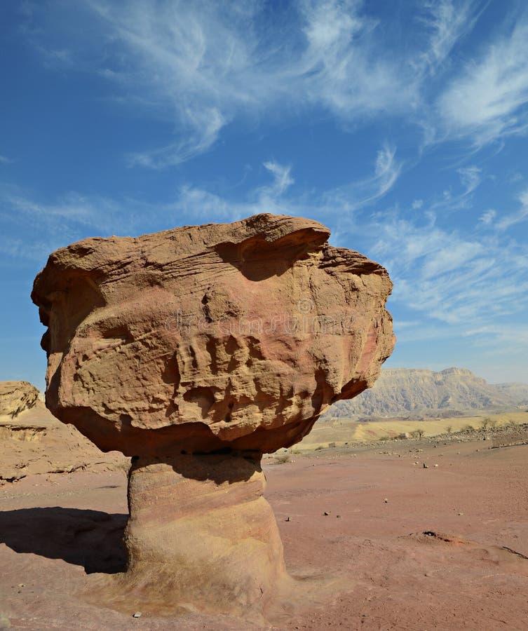 Долина геологохимического парка Timna, Израиля стоковые изображения