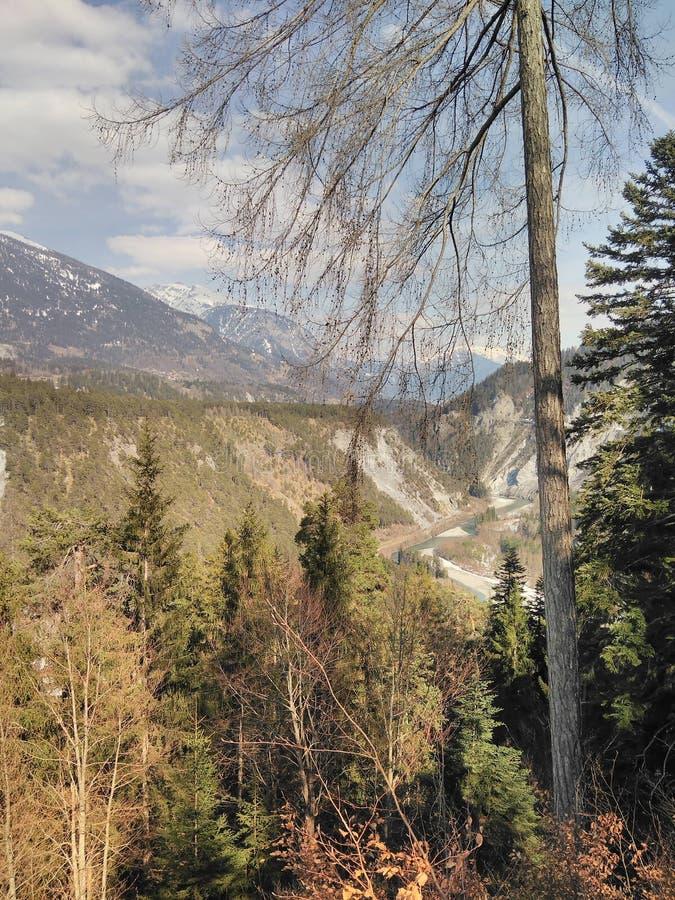 Долина горы осени стоковая фотография rf