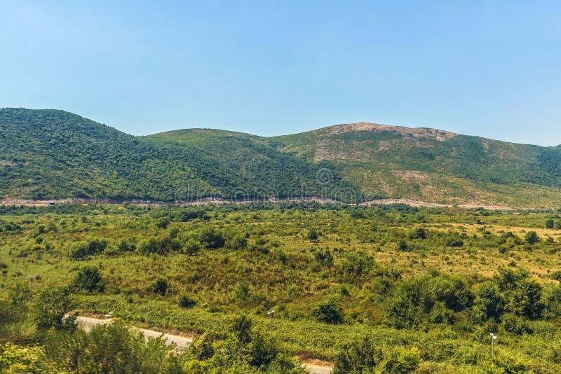 Долина горы, Черногория стоковое фото rf