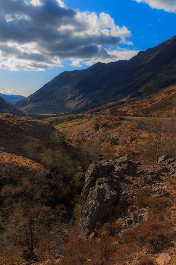 Долина горы, Glencoe, Шотландия стоковое фото rf
