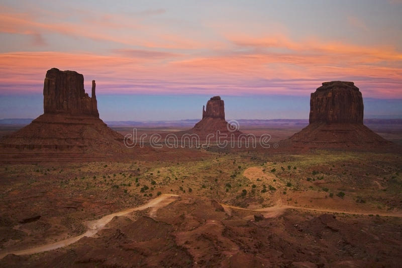 долина захода солнца памятника стоковое изображение rf