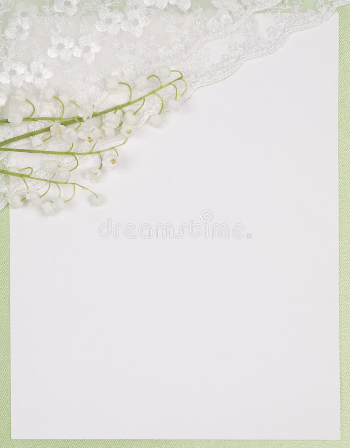 долина лилии карточки стоковое фото