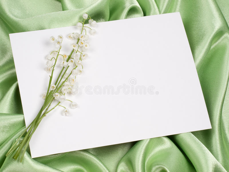 долина лилии карточки стоковое изображение rf