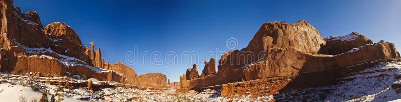 Долина памятника, время зимы стоковые изображения