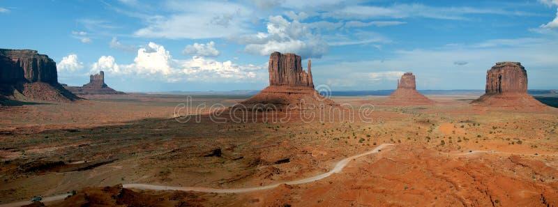 долина панорамы памятника стоковое изображение