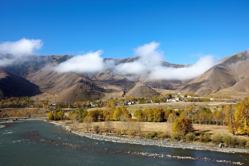 долина плато chuanxi стоковое изображение rf
