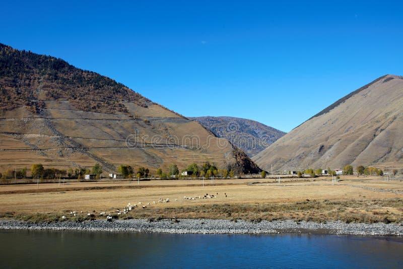 долина плато chuanxi стоковая фотография
