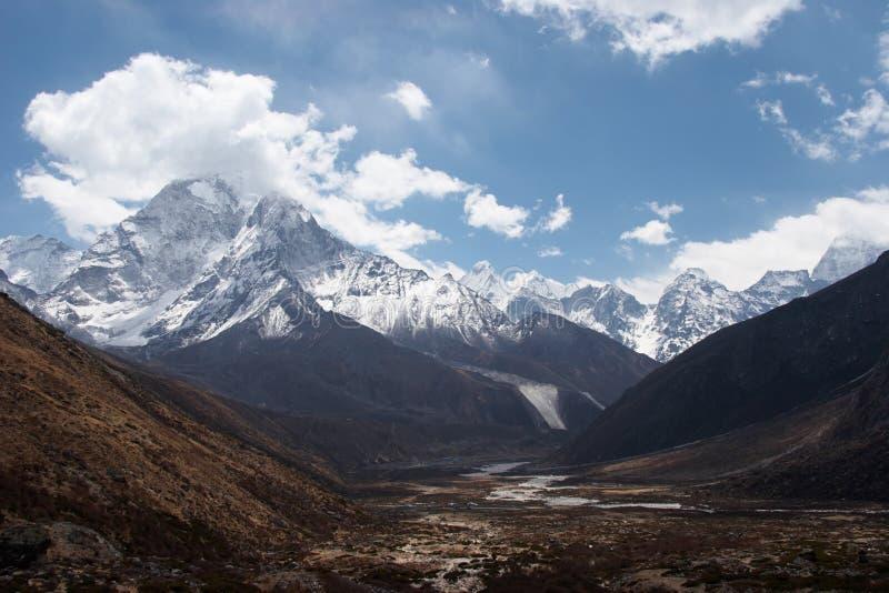 долина тропки Непала горы everest стоковые фотографии rf