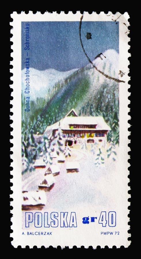 Долина Chocholowska, гора временно проживает в serie парка национального парка Tatra, около 1972 стоковые изображения