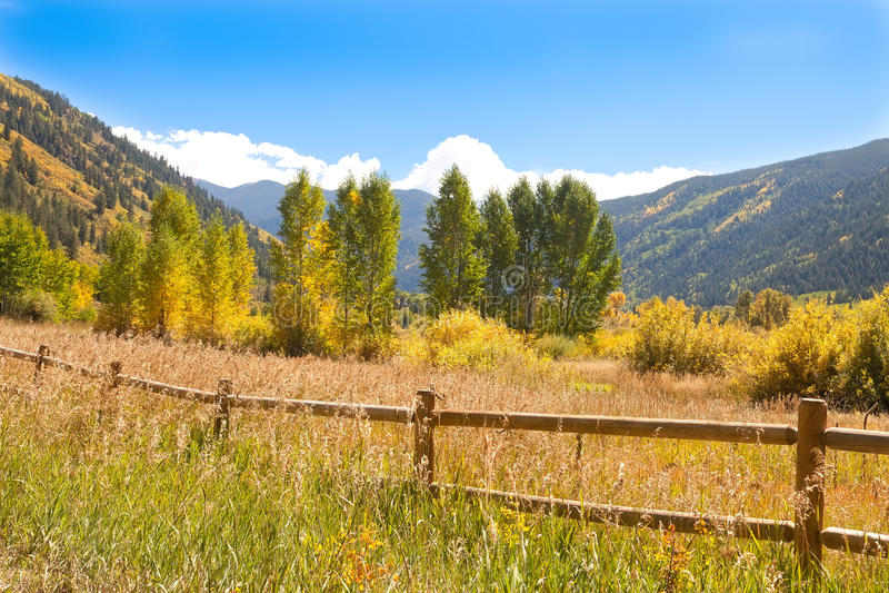 долина colorado осени стоковые фотографии rf