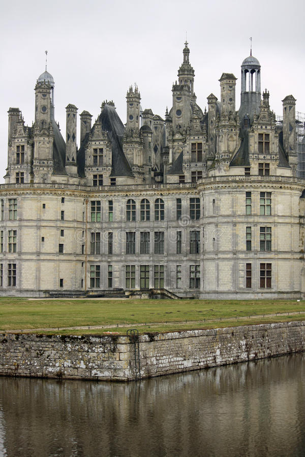долина de Франции loire замка chambord стоковое фото