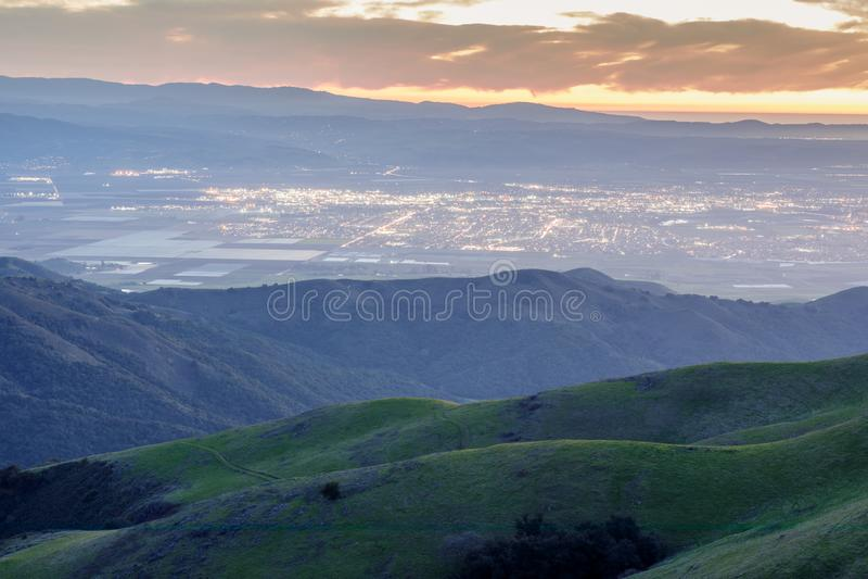 Долина Salinas сверху стоковое изображение