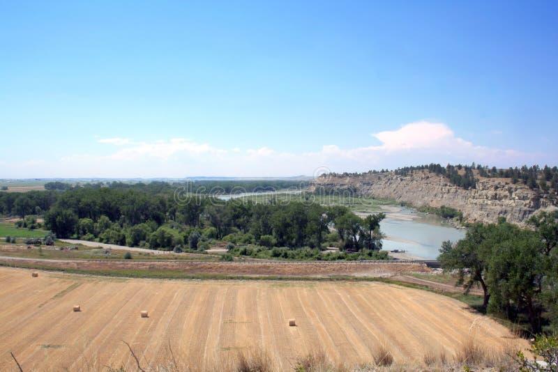 долина yellowstone Монтаны стоковое изображение