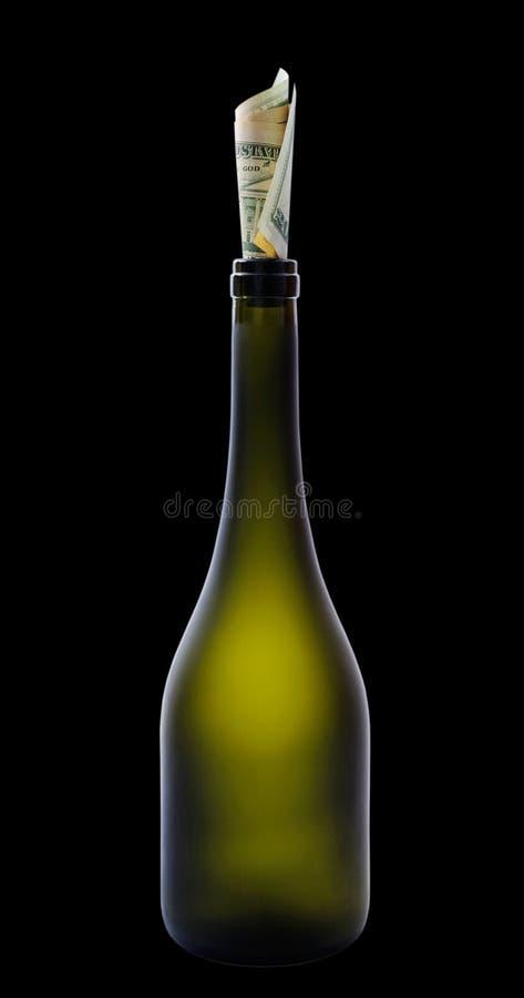 Download доллары бутылки стоковое изображение. изображение насчитывающей предметы - 17621667