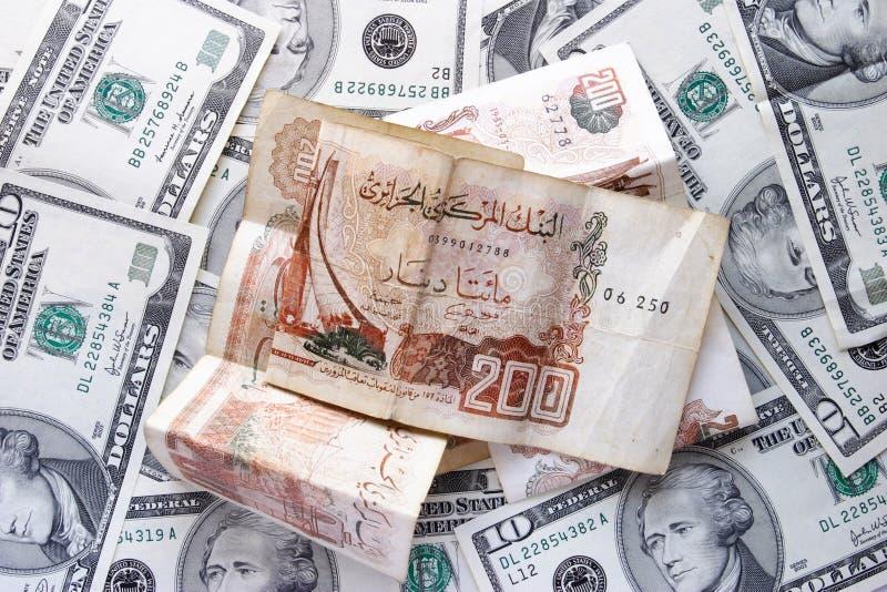доллары динара стоковые изображения rf