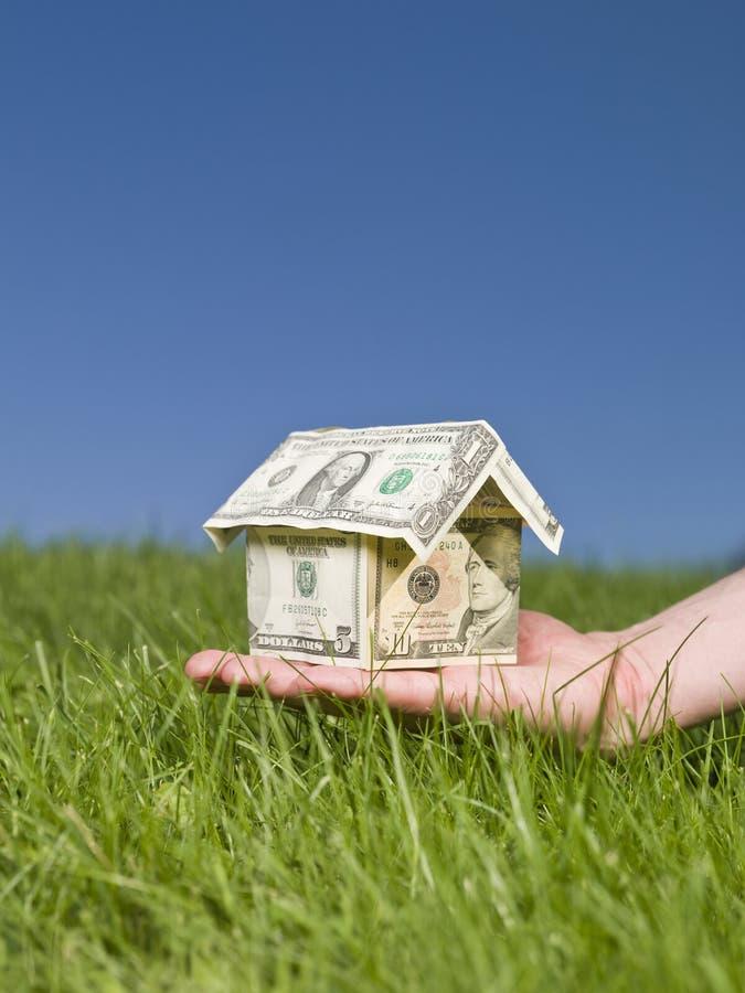 доллары дома стоковая фотография