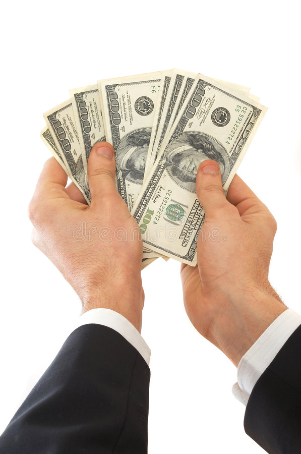 доллары здесь ваши стоковая фотография rf
