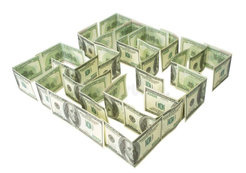 доллары зеленого лабиринта стоковое фото