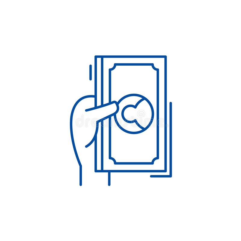 Доллары и центы выравнивают концепцию значка Символ вектора долларов и центов плоско, знак, иллюстрация плана иллюстрация штока