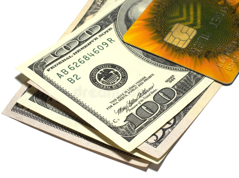 доллары кредита карточки стоковая фотография rf