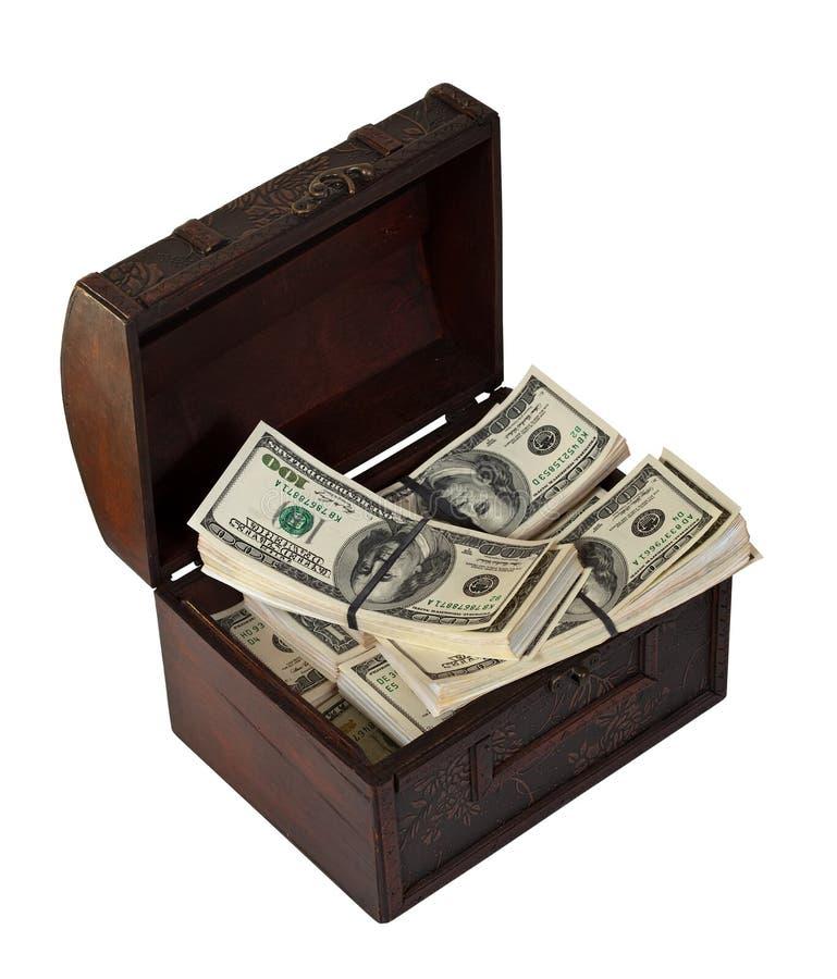доллары кредиток изолировали белизну хобота стоковое фото rf