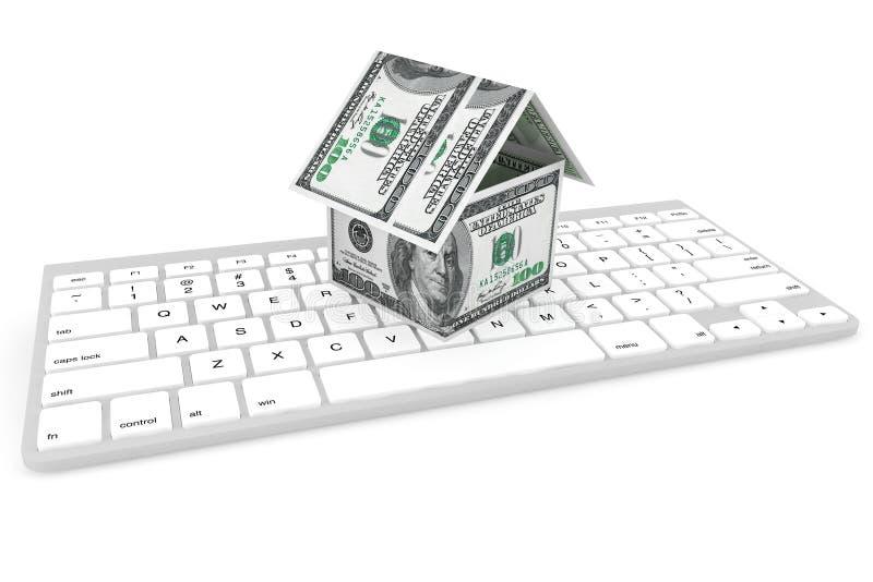 Доллары кредиток как дом стоковое фото