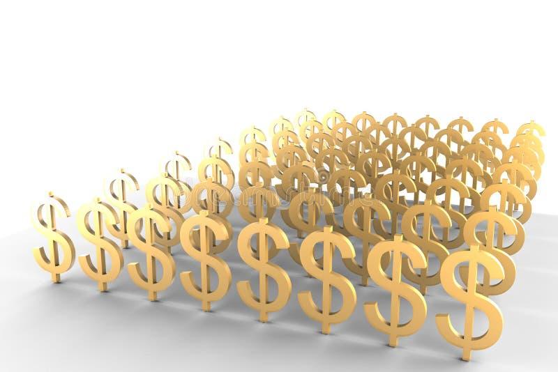 доллары много иллюстрация вектора