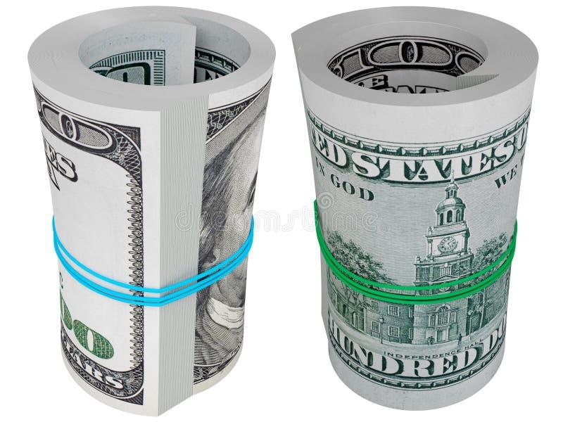 доллары наличных дег иллюстрация вектора