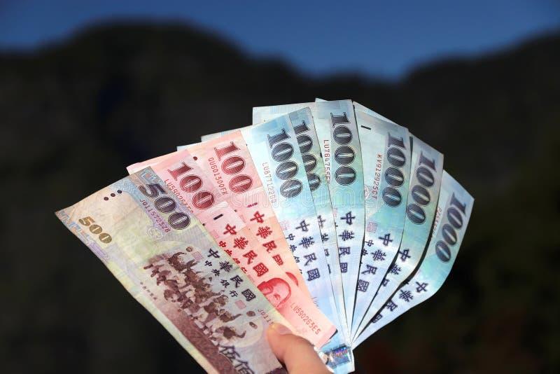 доллары нового taiwan стоковое изображение rf