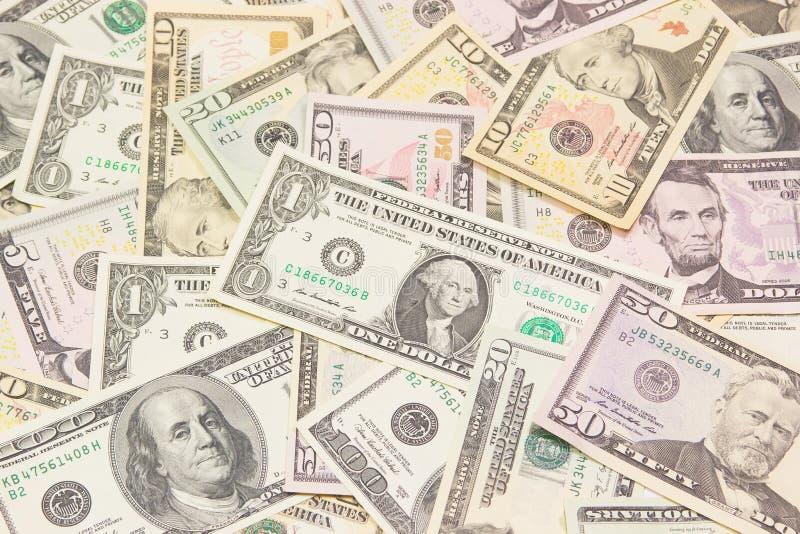 Доллары предпосылки. Высокая текстура разрешения. стоковое фото
