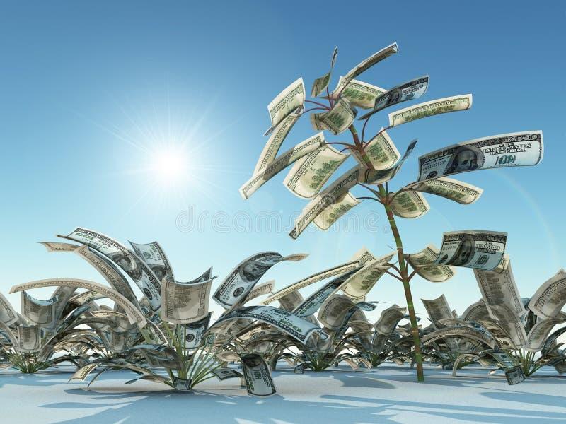 доллары расти иллюстрация штока