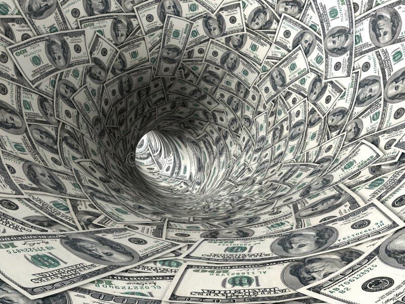доллары свирли иллюстрация вектора