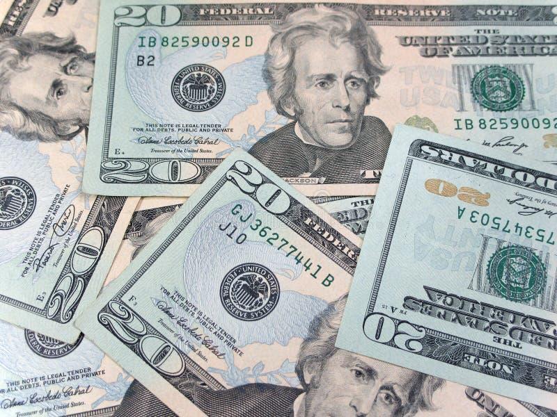 доллары 20 стоковое изображение rf