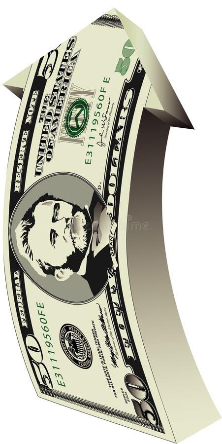 доллары 50 стрелки бесплатная иллюстрация