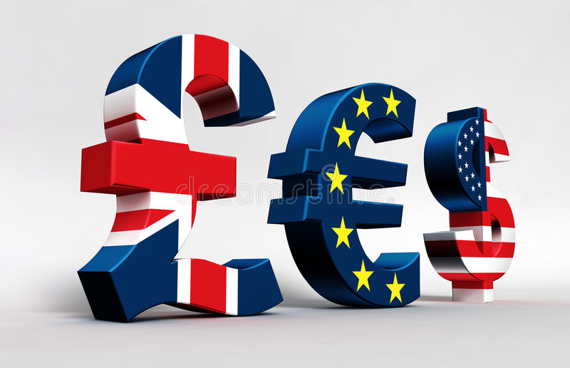 Доллар евро фунта иллюстрация штока