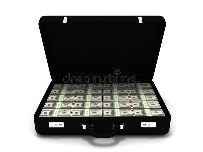 доллар миллион портфеля стоковая фотография