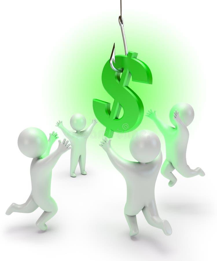 Доллар на крюке бесплатная иллюстрация