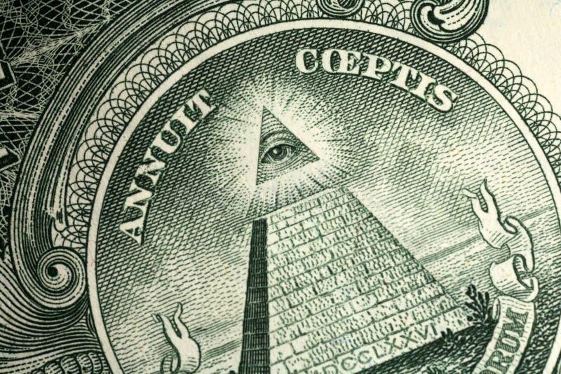 доллар одно детали счета стоковая фотография